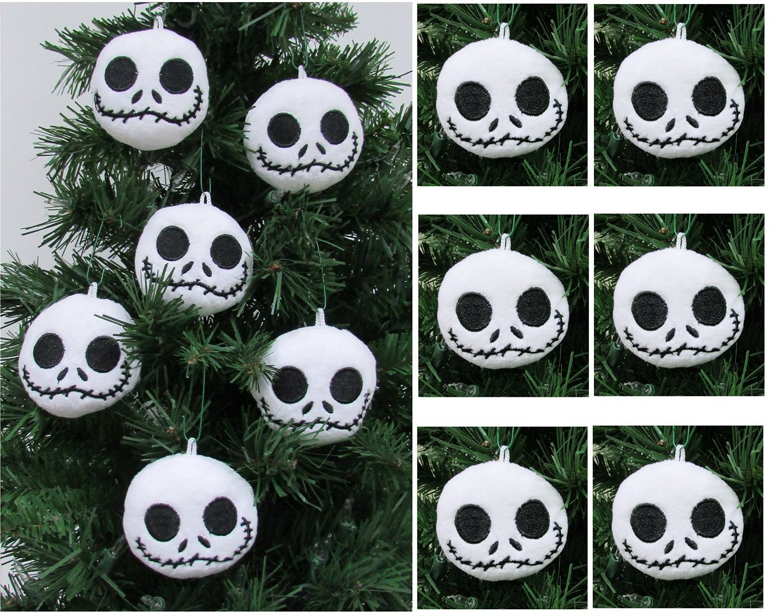 Buy NIGHTMARE BEFORE CHRISTMAS Plush Ornament Set Featuring 6 Jack ...