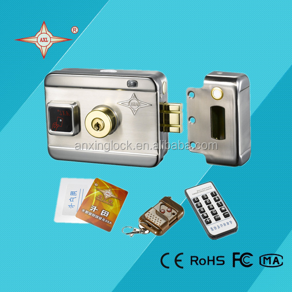 AX066 smart door lock electric intelligent lock double cylinder remote control & reading card on outside & inside