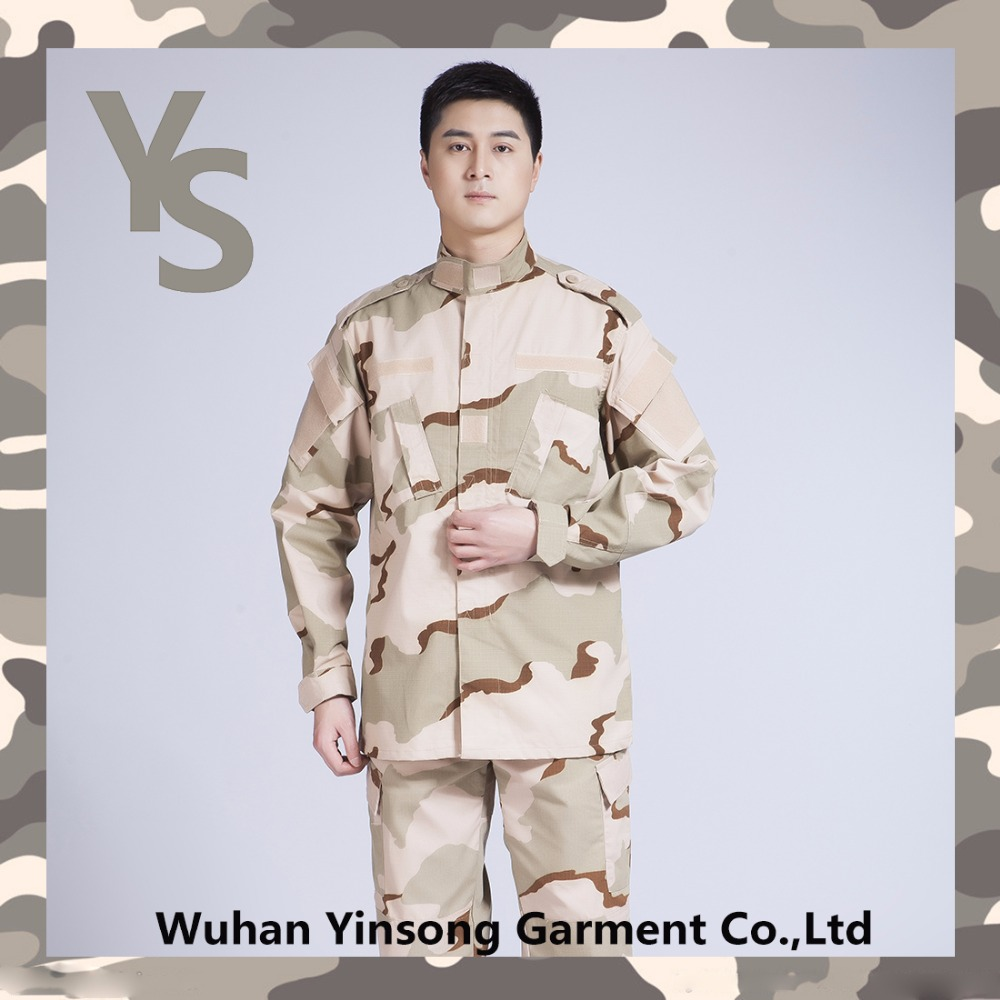 [Wuhan YinSong] High Quality Camouflage Clothing 3 Color Desert ACU Military Uniform