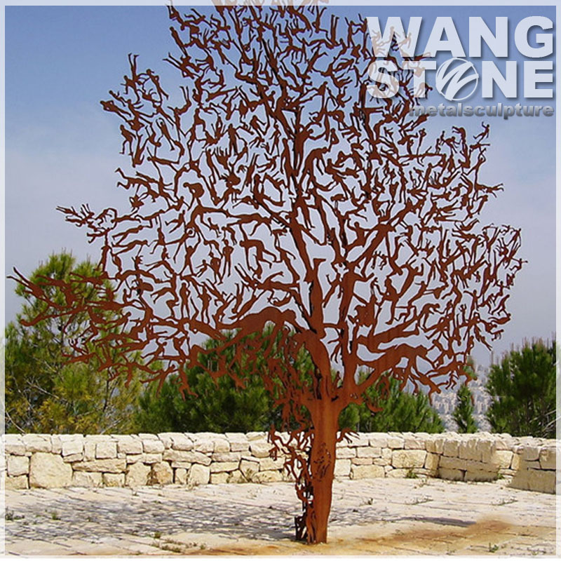 Outdoor Corten Steel Metal Tree Sculpture Buy Tree