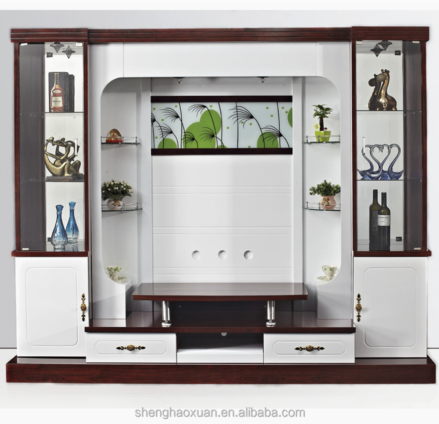 Designs Tv Cabinets Tv Stand With Led Light 9905# Modern Wooden ...