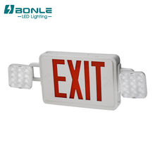 New Model 와 배터리 Backup Led 충전식 Combo Lamp Emergency 빛 두 번 Sided Exit Sign