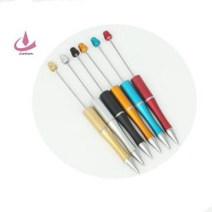 DIY beadable plastic ballpoint pens contain black ink
