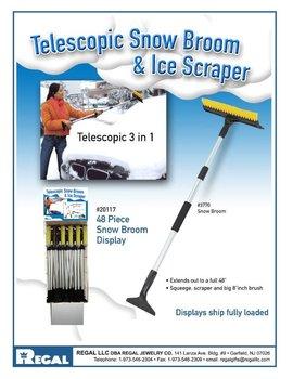 Telescopic Snow Broom And Ice Scraper 48 Pc Display Buy