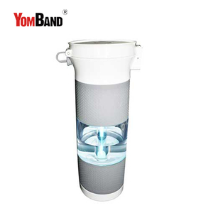 Healthy portable active carbon clear plastic UV lamp sport water filter bottle water purifier