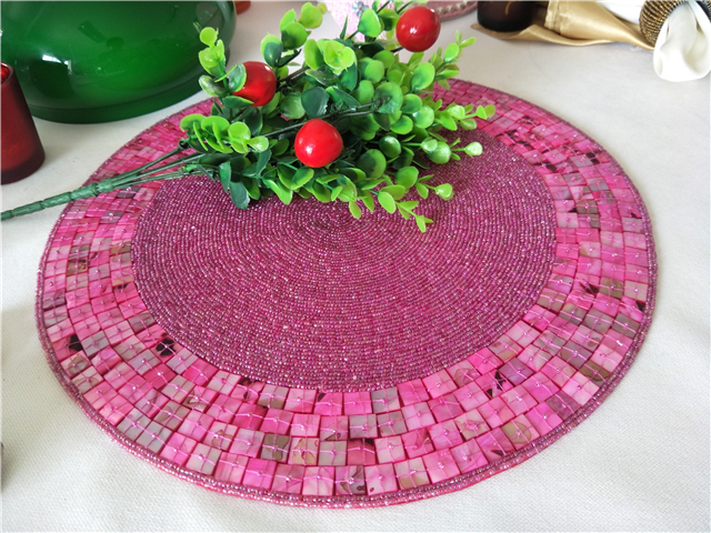 European-style food mat high-grade western food placemat  beads cup  d heat insulation mat tray   bowl pad tea table 011