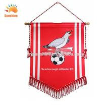 custom mini pennants hanging Banners football club Professional Banners and Flags hanging Banners with CE certificate