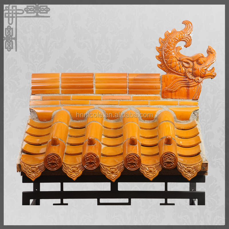 Temple Building Materials Ceramic Traditional Chinese Roof Tiles ...