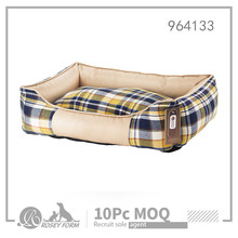 Classic checker style covered dog bed