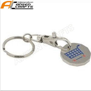 Shopping Trolley Pound Token With Keyring