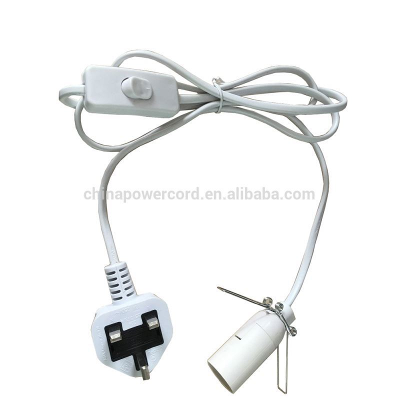 E14 UK salt lamp electrical cord with spring clips for holloween pumpkin