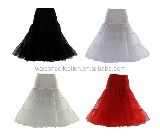 50s Swing Vintage Petticoat Rockabilly Unerskirt Crinoline Many Colors Soft fabric