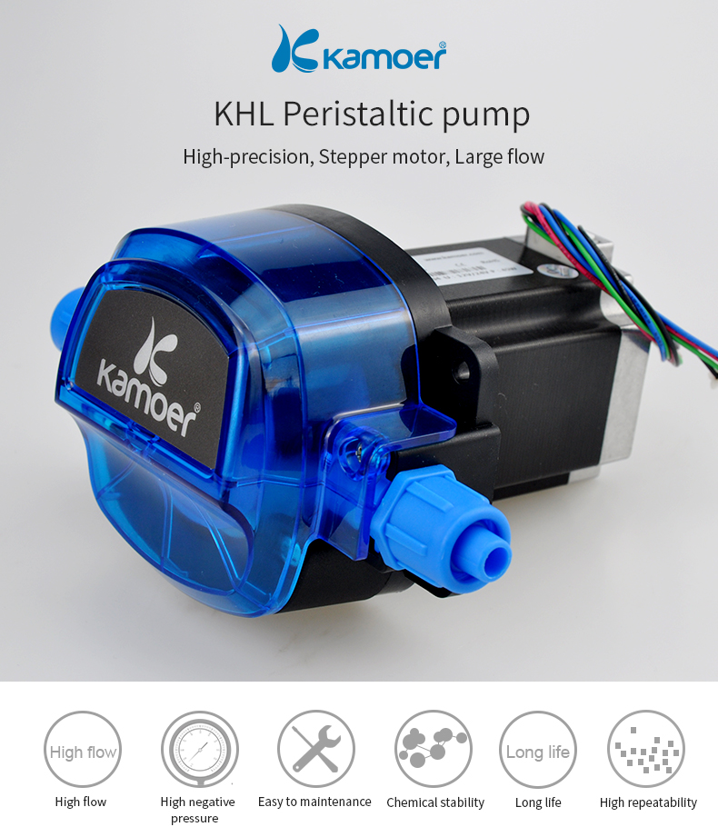 Kamoer Stepper motor automatic water pump12 volt min dosing peristaltic pump for chemica Experiment
