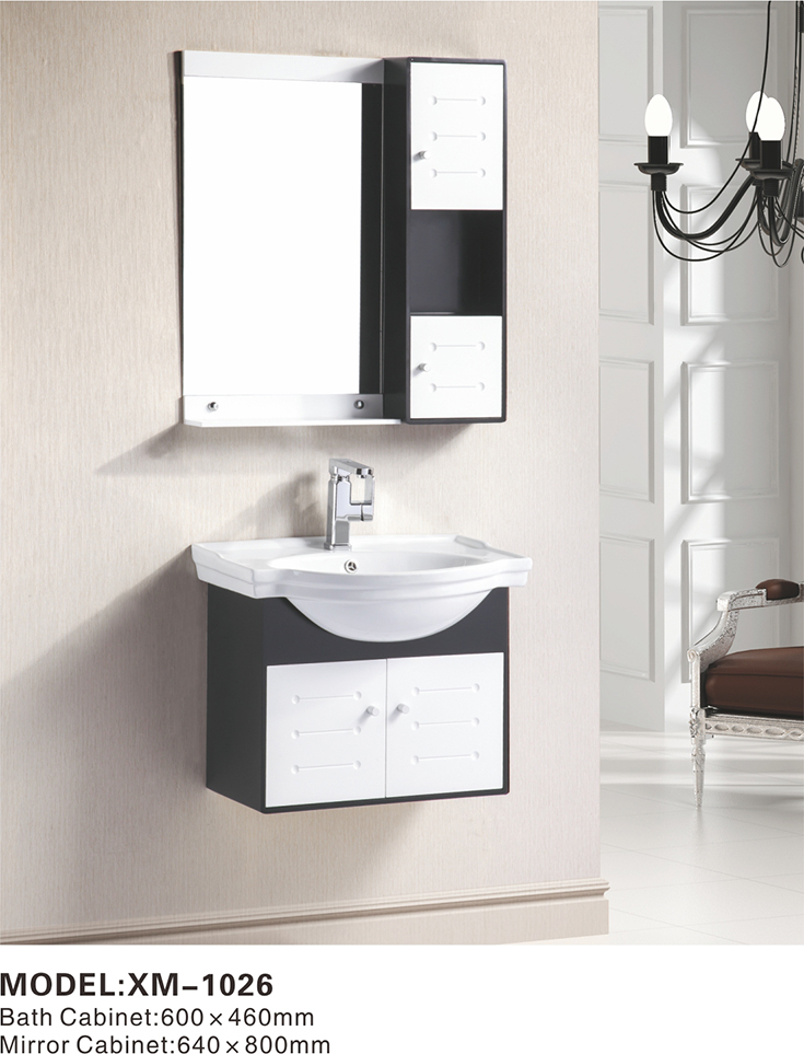 New Design Black Bathroom Wall Cabinet, Cupboard Bathroom Wash Basin  Cabinets, Shell Shape Basin