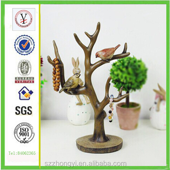 Factory Custom Made High Quality Resin Art Tree Sculpture Of Decorative Items For Living Room