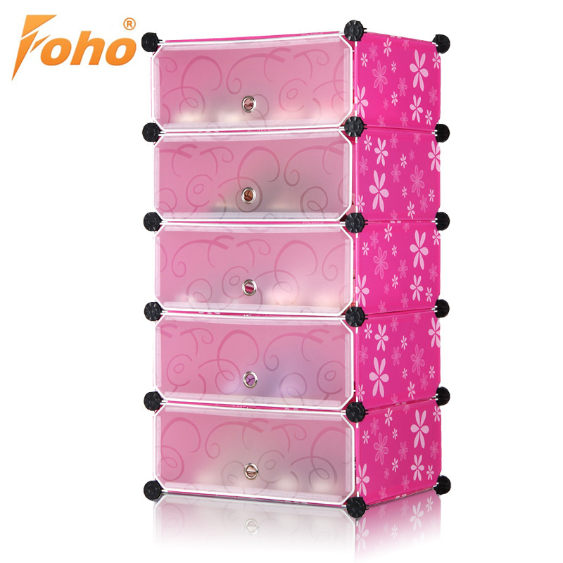 Black Modern Diy Style Pp Palstic Shoe Rack Cabinet - Buy Pp ...