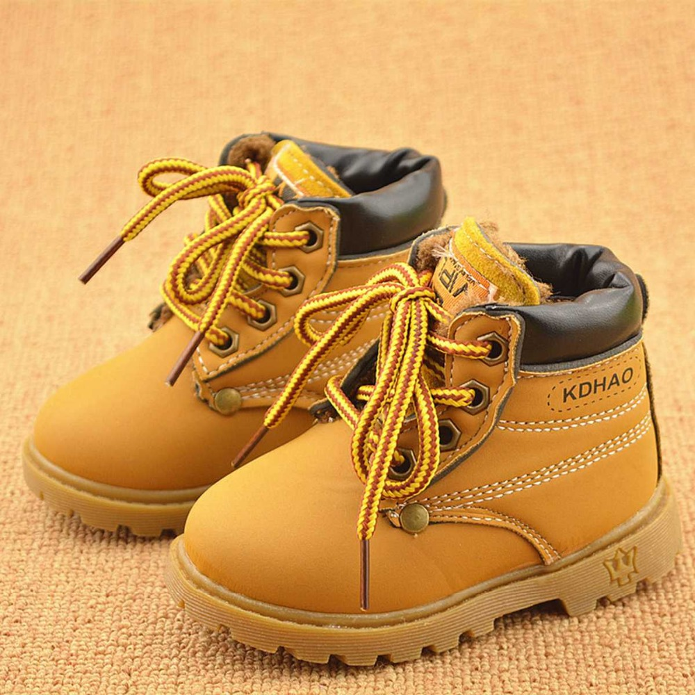 warm winter kids baby girls boys children england style infant shoes snow boots flat Martin Boots