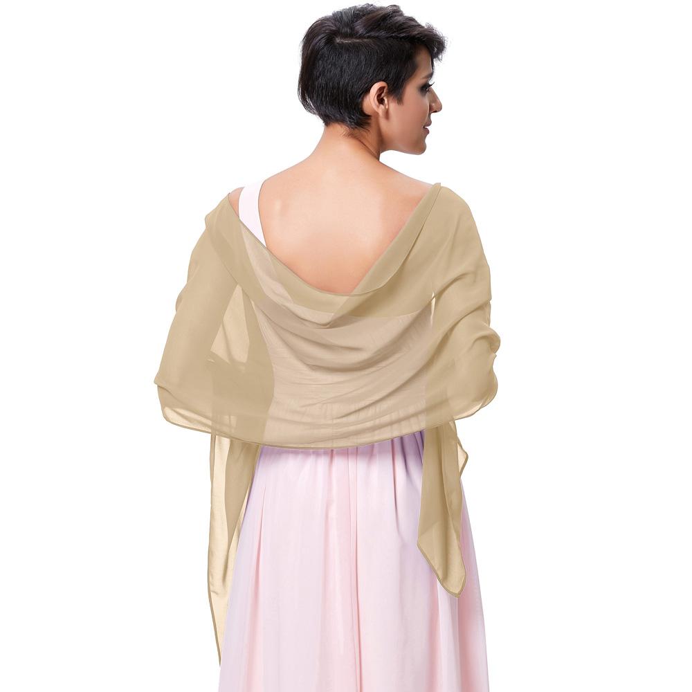 Kate Kasin Stock Chiffon Bridal Evening Dress Shawls Scarves Scarf ...
