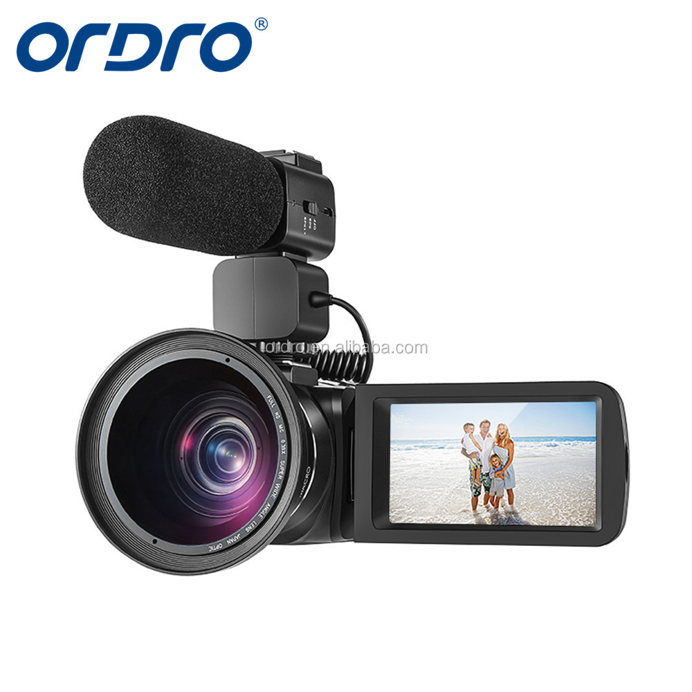 Ordro Z82 professional camcorder 1080p full hd 10 optical zoom hot shoe for external MIC