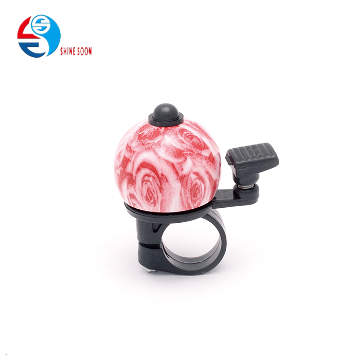 Customized Printing flower teapot bike bicycle ring bell Alloy bicycle bell for girls bicycle bike bell