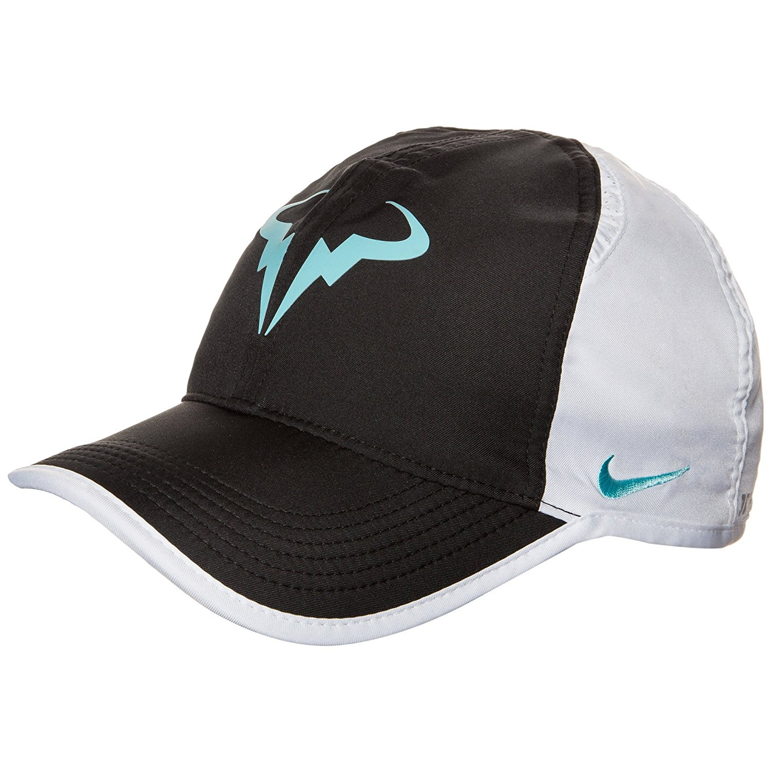 c6afeaed35d Get Quotations · Nike Rafa Featherlight White   Black Cap