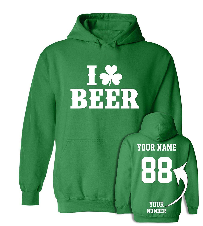 ☘ Custom Jersey Style ST Patrick's Day T Shirts - Saint Pattys Tee & Irish Outfits
