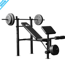 SJ-7230 Pro Home gym <span class=keywords><strong>fitness</strong></span> equipment Dobrável Compacto Banco de Levantamento de Peso de imprensa com rack de agachamento