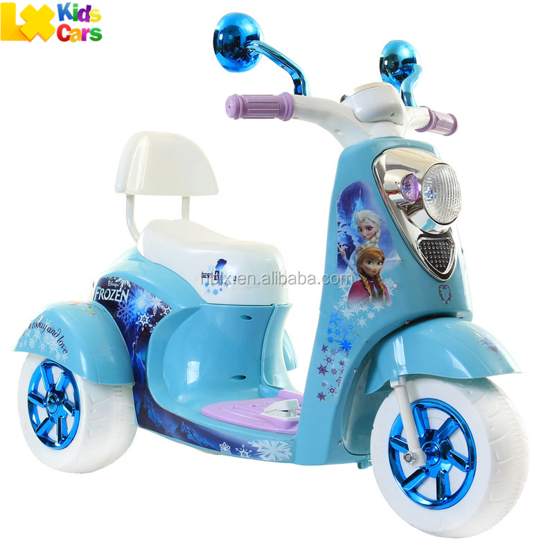 "NEW RELEASED ""FROZEN"" theme fashion motorcycle battery baby electric toy car for kids"