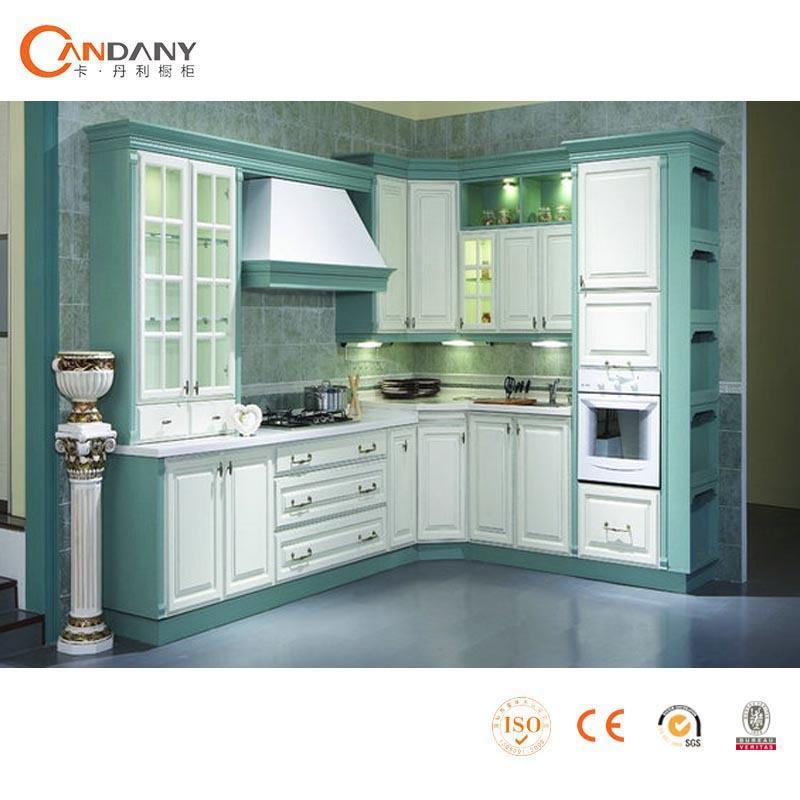 Buena calidad del gabinete de cocina de acr lico con panel de la puerta perfil de aluminio para - Panel pared cocina ...