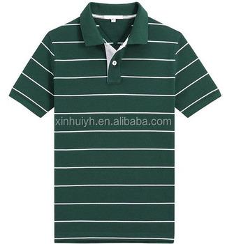 Wholesale stripe work golf shirt men 39 s custom own brand for Custom work shirts cheap