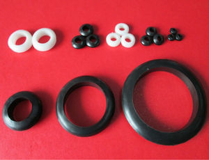 3 4 5 6 7 8 9 10mm China Silicone rubber grommets black refrigerator rubber grommet