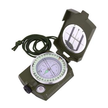 Metal Waterproof Pocket Compass Military Army Compass Navigator with Foldable Metal Lid for Hiking Camping