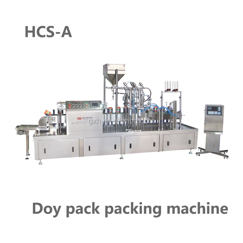 Doypack packing machine for handwash/ketchup/cream/mayonnaise/dressing/oil