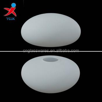 Ongebruikt Mondgeblazen Ronde Platte Melk Wit Glas Lampenkappen/lampenkap GD-03