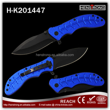 Attractive fish bone shape handle Black Coated Safety Outdoor Knife