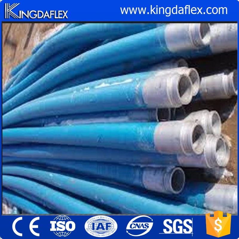 85bar Steel Wire Braided Flexible Rubber Concrete Pump Hose 5 Inch