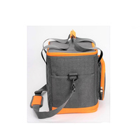 New Stylish High Quality Grey / Yellow Insulated Cooler Tote Bag Lunch Bag