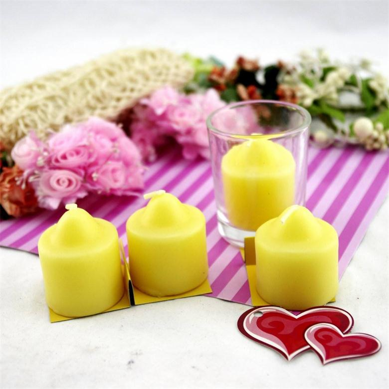 Colored Scented Pointed Top Home Fragrances Paraffin Wax Votive Candles