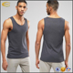 Wholesale High quality bodybuilding gym wear grey stringer fitness custom jersey sleeveless men tank top for sport