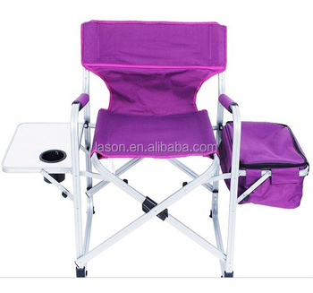 Folding Directors Chair With Side Table.Top Quality Folding Aluminum Tube Director Chair With Side Table And Cooler Bag Buy Lightweight Aluminum Folding Director Chair Folding Aluminium