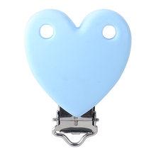 Keep & grow 10 шт. силиконовые зажимы для соски в форме сердца BPA Free детские игрушки для прорезывания зубов и Подарочная подвеска-прорезыватель с о...(Китай)