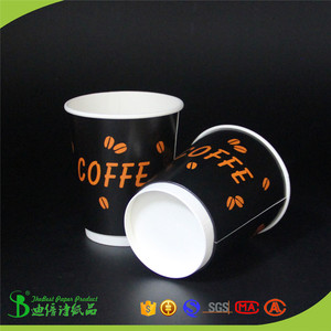 100% green food grade paper one time use wholesale hot coffee paper cups