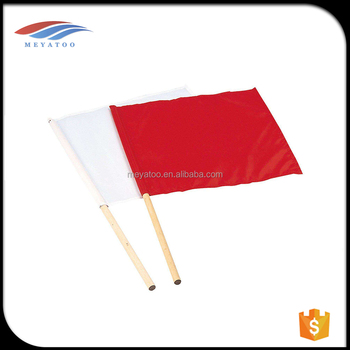 Promotional 14*21 Cm Customized Hand Held Wave Flags With Plastic Flag  Stick - Buy Custom Hand Held Flags,Hand Flag With Stick,Mini Stick Flags
