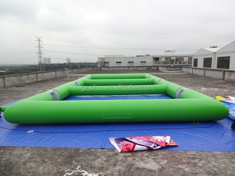 160112026 Commercial grade PVC tarpaulin Inflatable Soccer Sports Games with repair kits