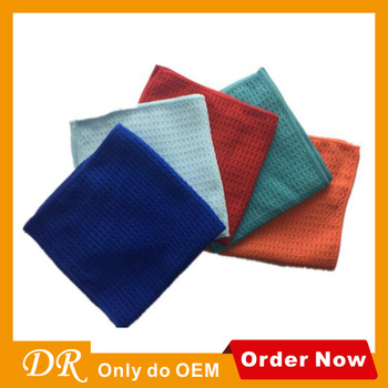 Microfiber Cleaning Cloths Set Dish Towels Water Absorption Wholesale Kitchen Waffle Towels