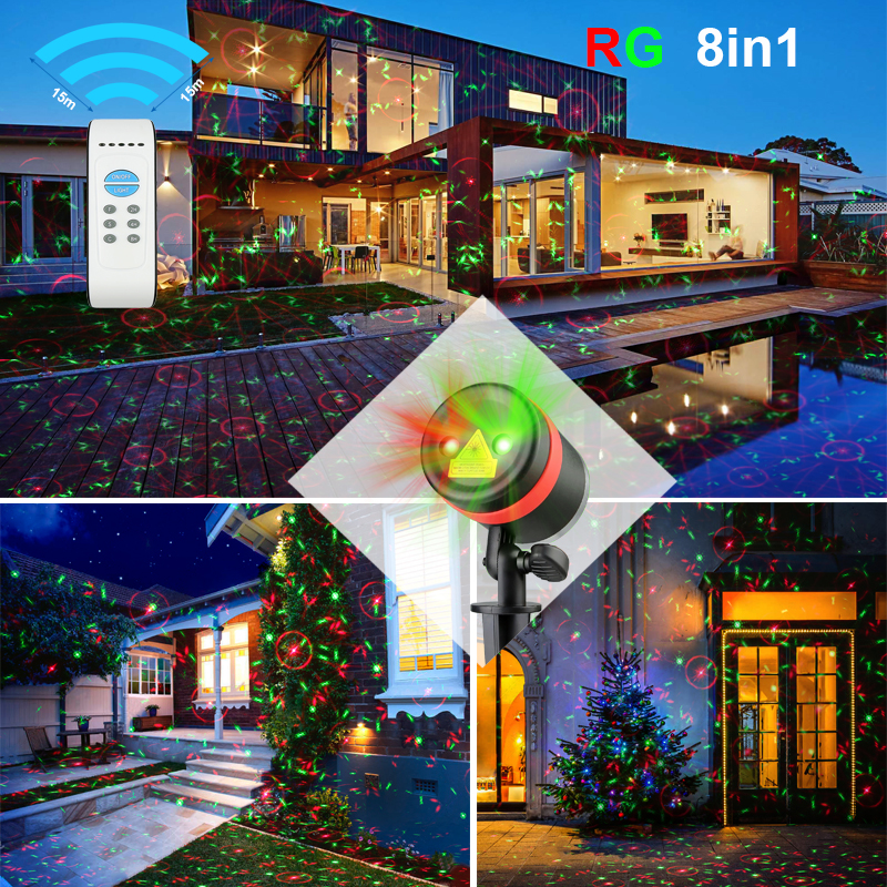 lazer light outdoor christmas elf light laser show house projector landscape lighting - Elf Laser Christmas Lights