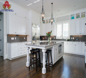 Custom Made AmerIca Style High End Knock Down Kitchen Cabinets Furniture Solid Wood
