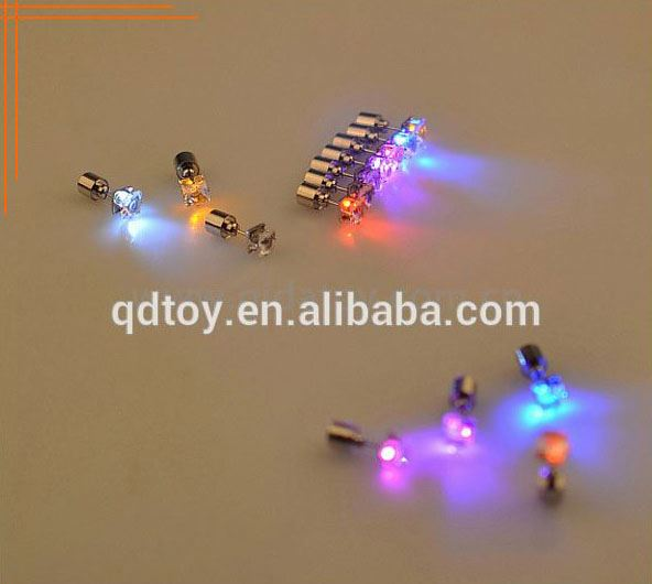 batteries changeable lovers' light up earrings / flashing led earring