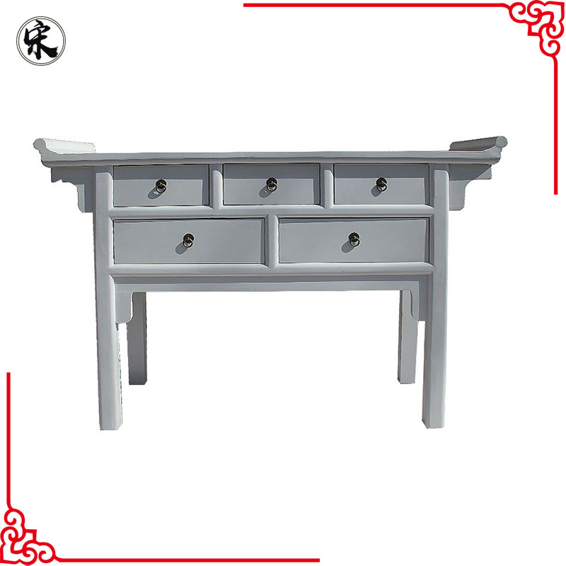beijing chinese antique vintage industrial furniture, kitchen table