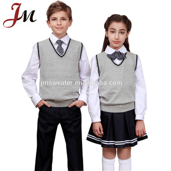 Elegante v-cuello sin mangas hermoso hecho punto coreano uniformes escolares adc826bf75313